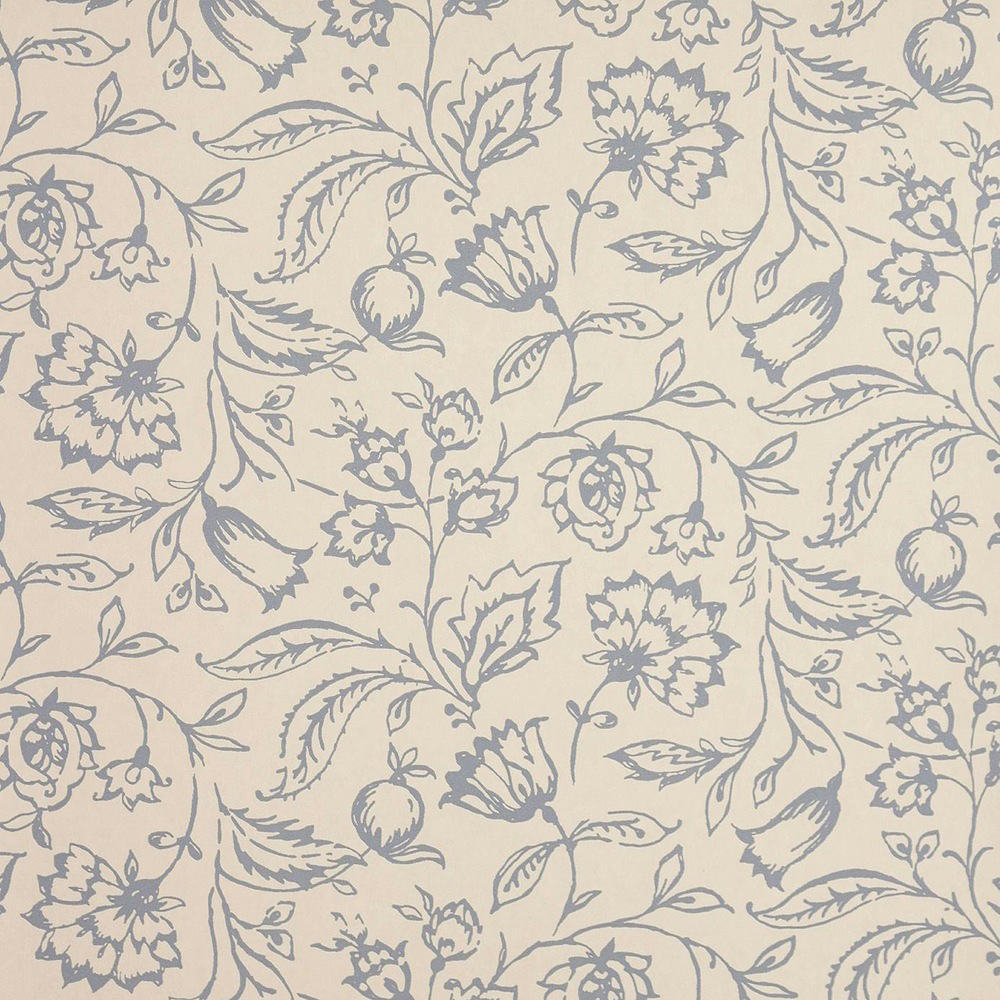 Tienda online telas papel papel pintado marie azul crema for Papeles pintados ingleses