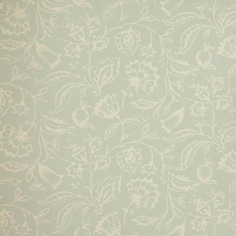 Tienda online telas papel papel pintado marie azul verdoso for Papel pintado azul