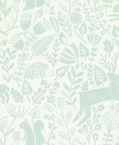papel-pintado-animalitos-bosque-agua