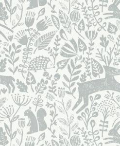 papel-pintado-animalitos-bosque-zoom-gris
