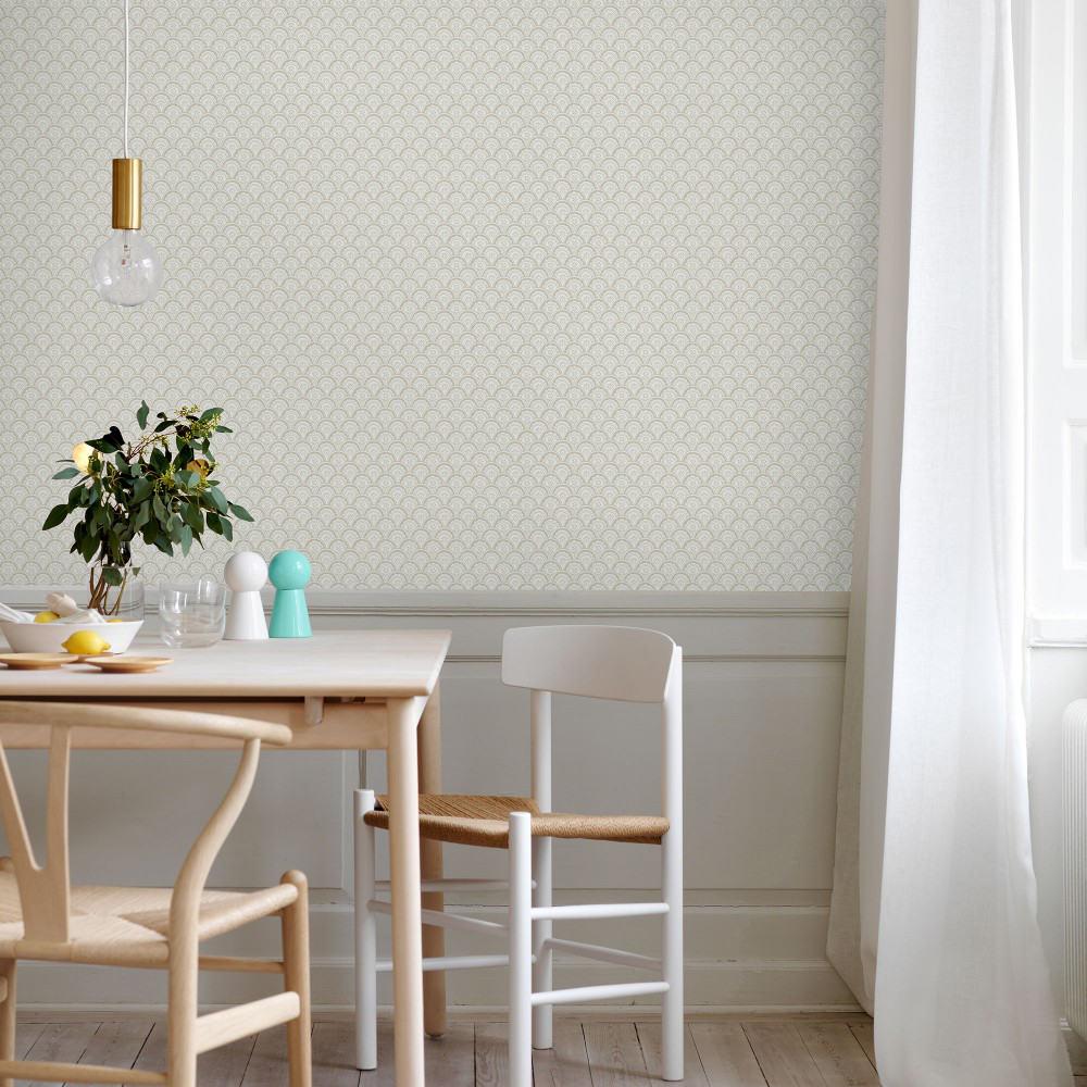 Tienda online telas papel papel pintado beata gris for Comedor papel pintado