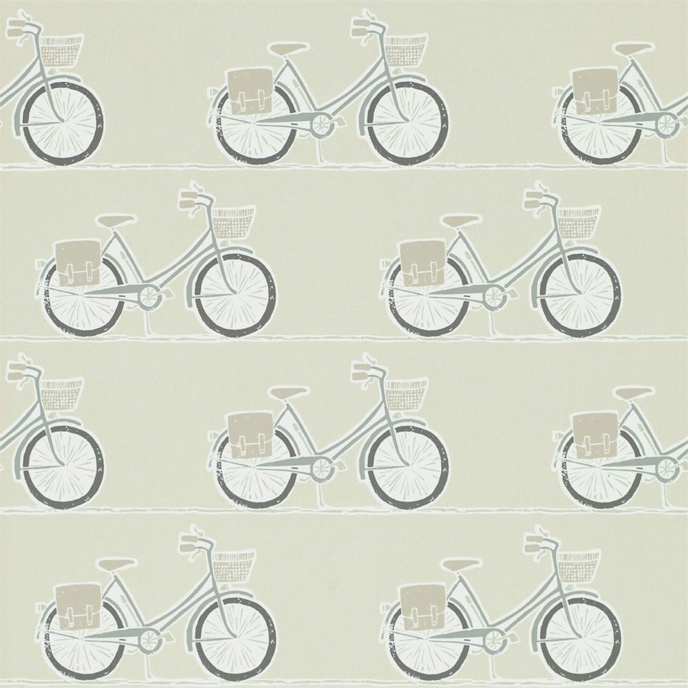 Tienda online telas papel papel pintado bicis grises - Papel pintado online ...