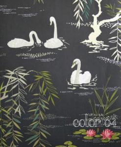 papel-pintado-cisnes-black