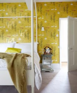 papel-pintado-cisnes-dormitorio