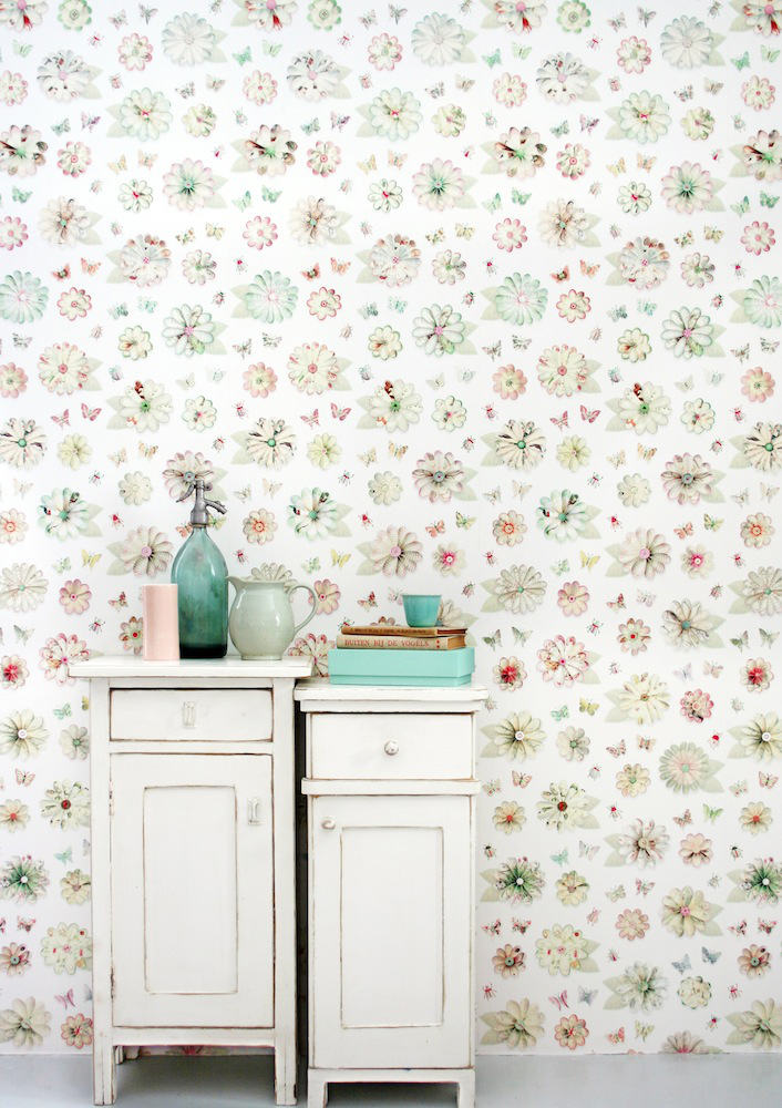 Tienda online telas papel papel pintado flores de papel - Papel pintado online ...