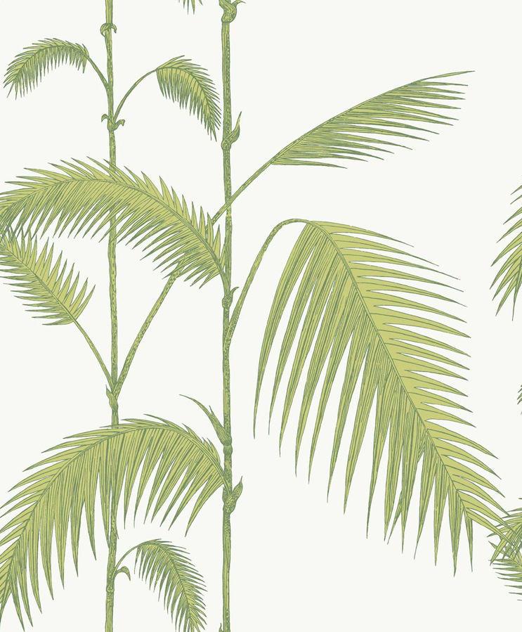 tienda online telas papel papel pintado palmeras verde