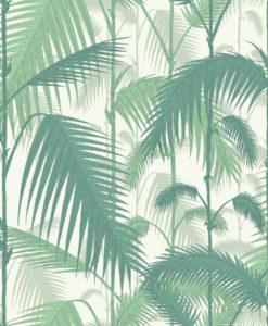 tienda online telas papel papel pintado palmeras perlado