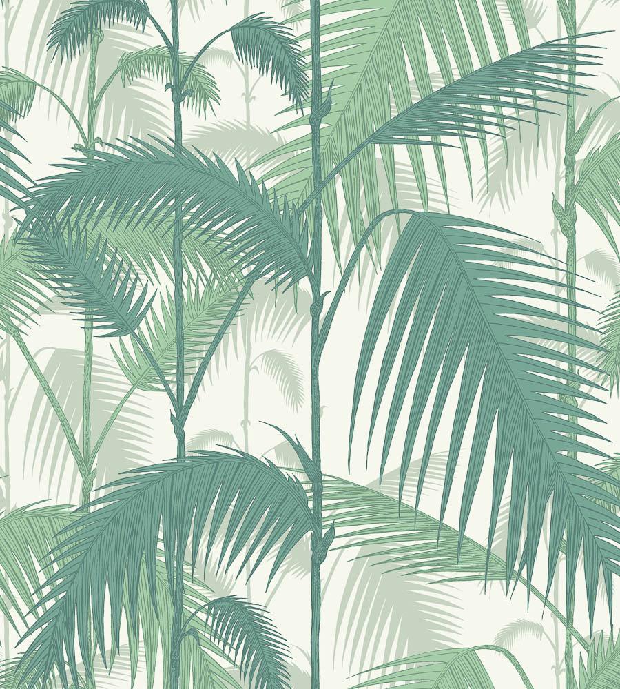 Tienda online telas papel papel pintado palmeras selva for Papel pintado hojas verdes