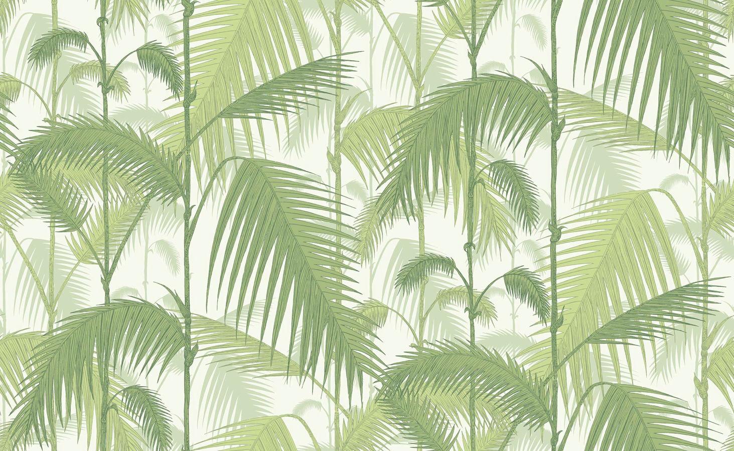 Tienda online telas papel papel pintado palmeras selva - Papel pintado verde ...