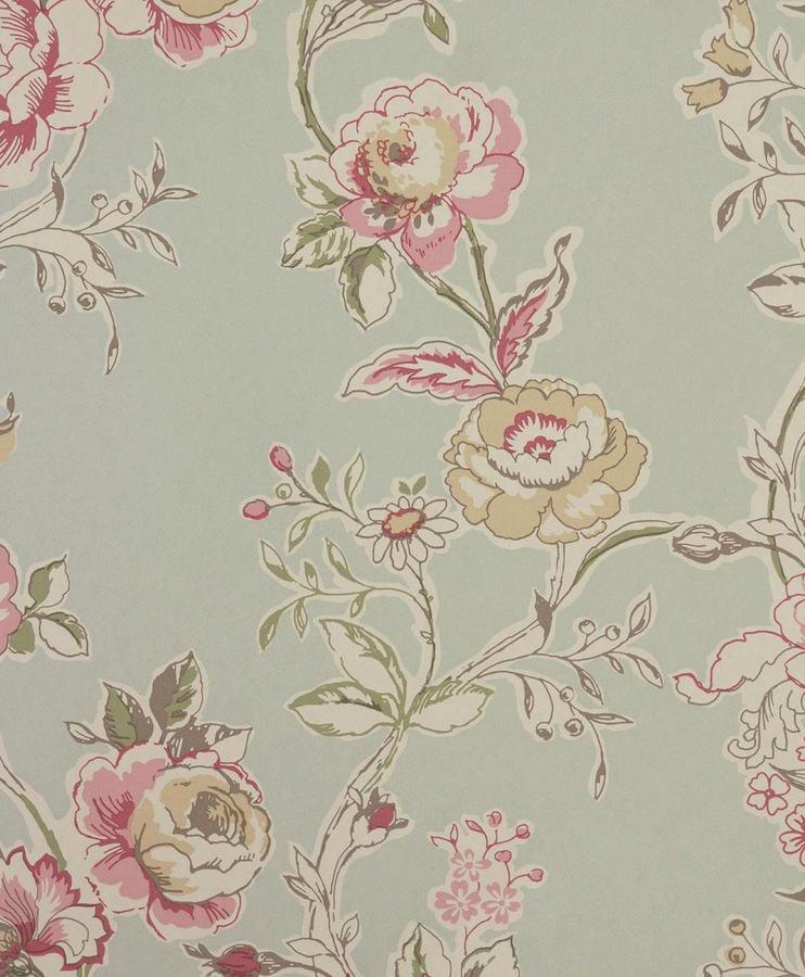 Tienda online telas papel papel pintado flores for Papeles pintados ingleses