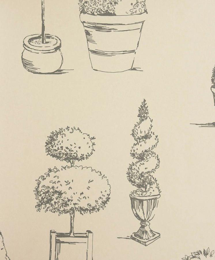 Tienda online telas papel papel pintado arbustos carbon for Papeles pintados ingleses