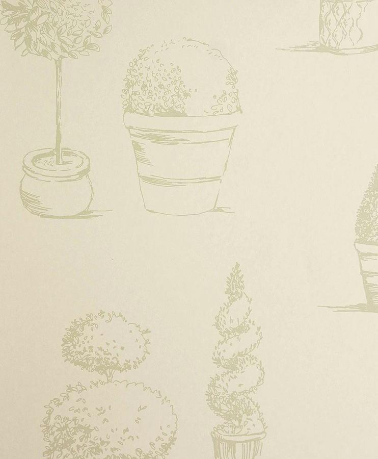 Tienda online telas papel papel pintado arbustos verde for Papeles pintados ingleses