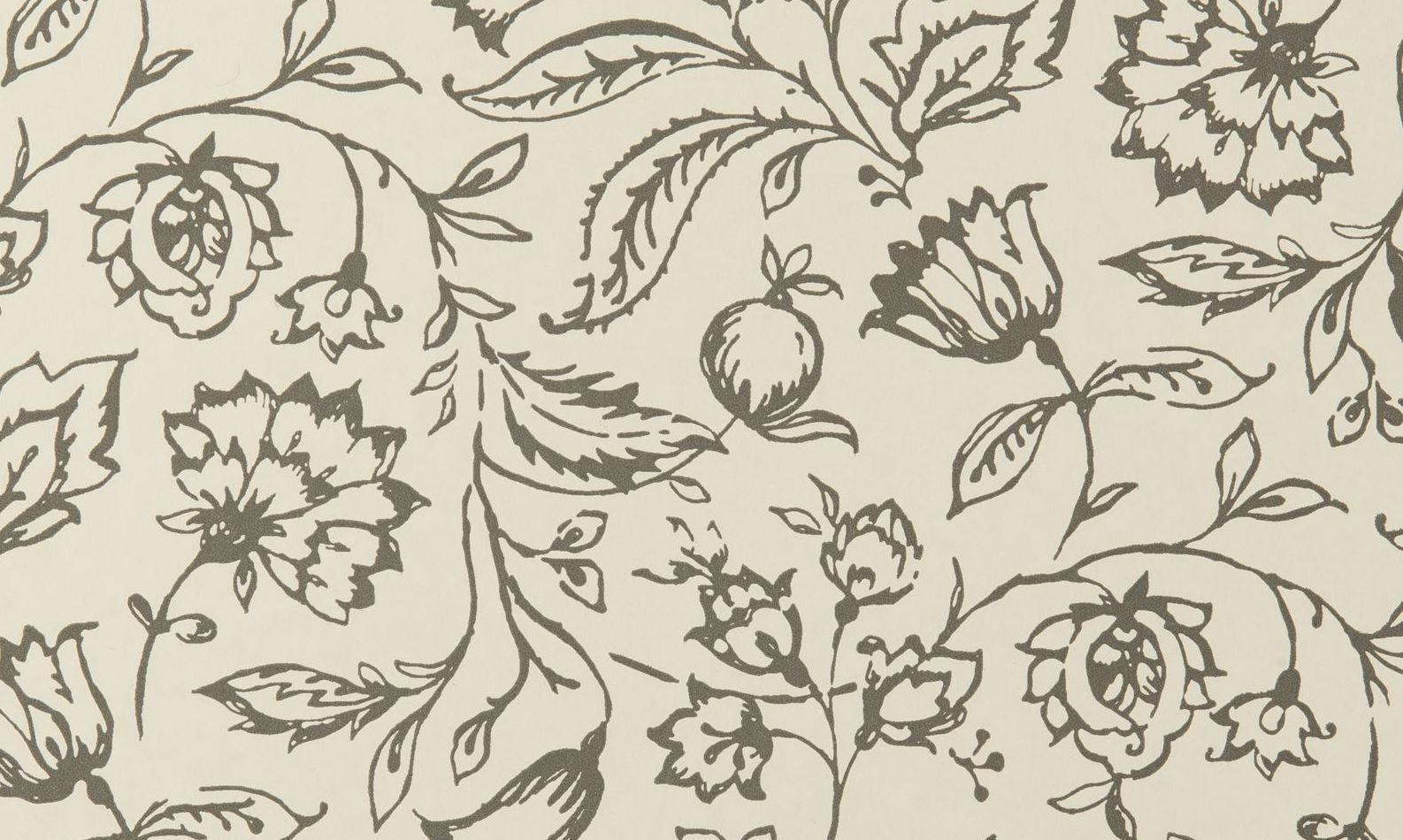 Tienda online telas papel papel pintado marie carbon crema - Papeles pintados online ...