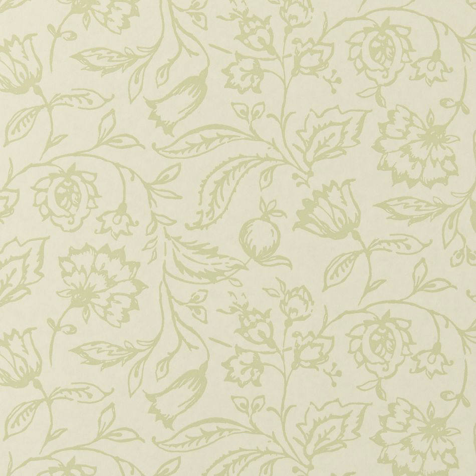 Tienda online telas papel papel pintado marie crema verde - Papeles pintados ingleses ...