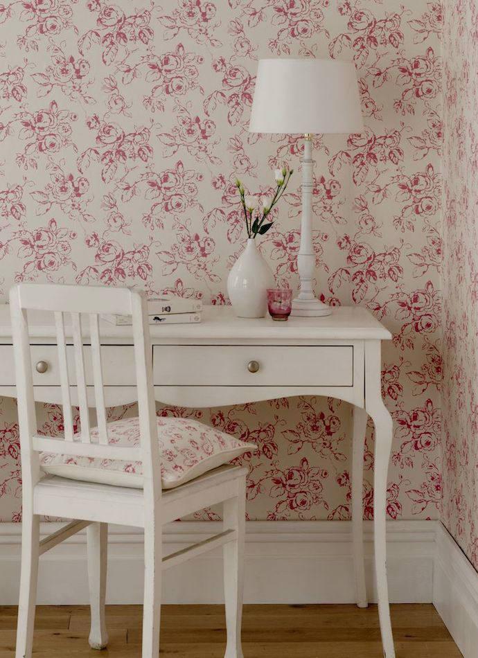 Tienda online telas papel papel pintado flores - Papeles pintados ingleses ...