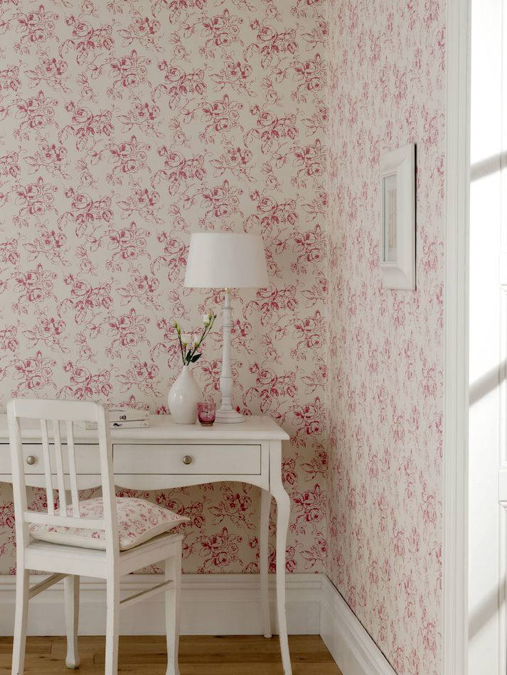 papeles pintados ingleses tienda online telas papel papel pintado flores delphine frambuesa