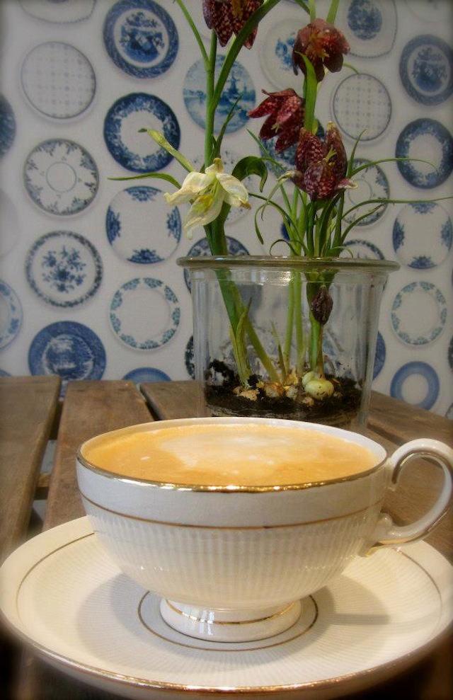 Tienda online telas papel cafeteria empapelada con for Platos porcelana
