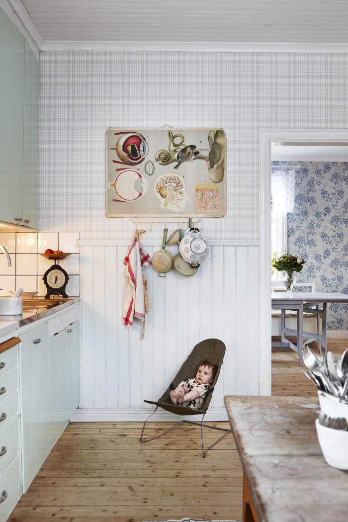Tienda online telas papel cocina con papel de cuadros - Papel pintado en cocina ...