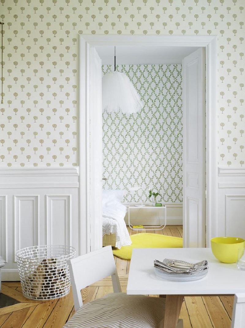 Tienda online telas papel ventajas de empapelar la cocina - Papel pintado para cocina ...