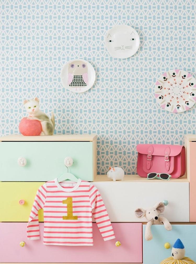 Tienda online telas papel estampado entrelazado para for Papel pintado estampado