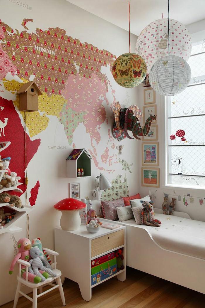 Tienda online telas papel un mapa de papel pintado en for Deco quarto