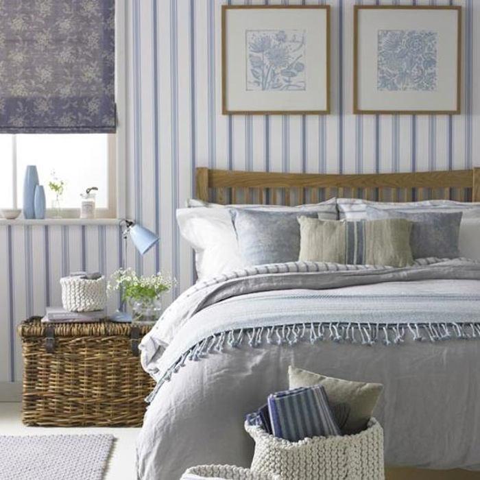 Perfecto Con Papel Pintado Y Pintura Foto Ideas para el hogar