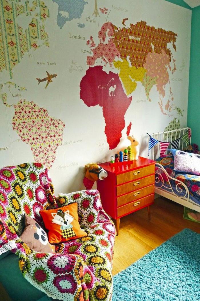 Tienda online telas papel un mapa de papel pintado en - Papel pintado mapamundi ...