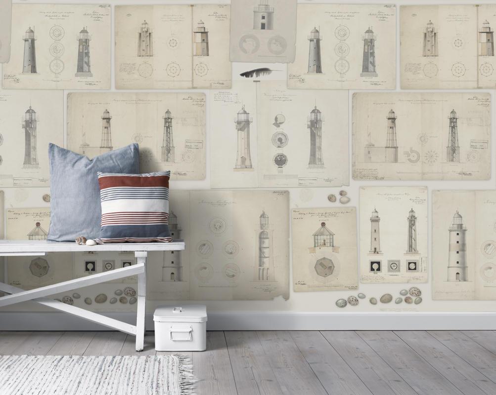 Tienda online telas papel mural papel pintado faros - Papel pintado on line ...