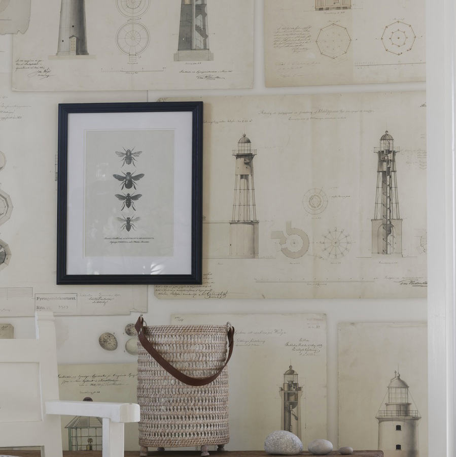 Tienda online telas papel mural marinero para pared - Papel pintado para decorar paredes ...