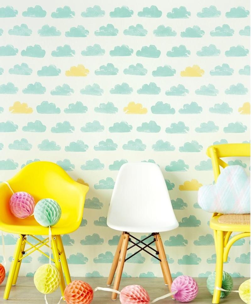 Tienda online telas papel paredes llenas de nubes en for Catalogo papel paredes