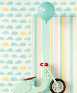 papel-infantil-nubes-amarillo