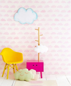 papel-infantil-nubes-dormitorio-rosas