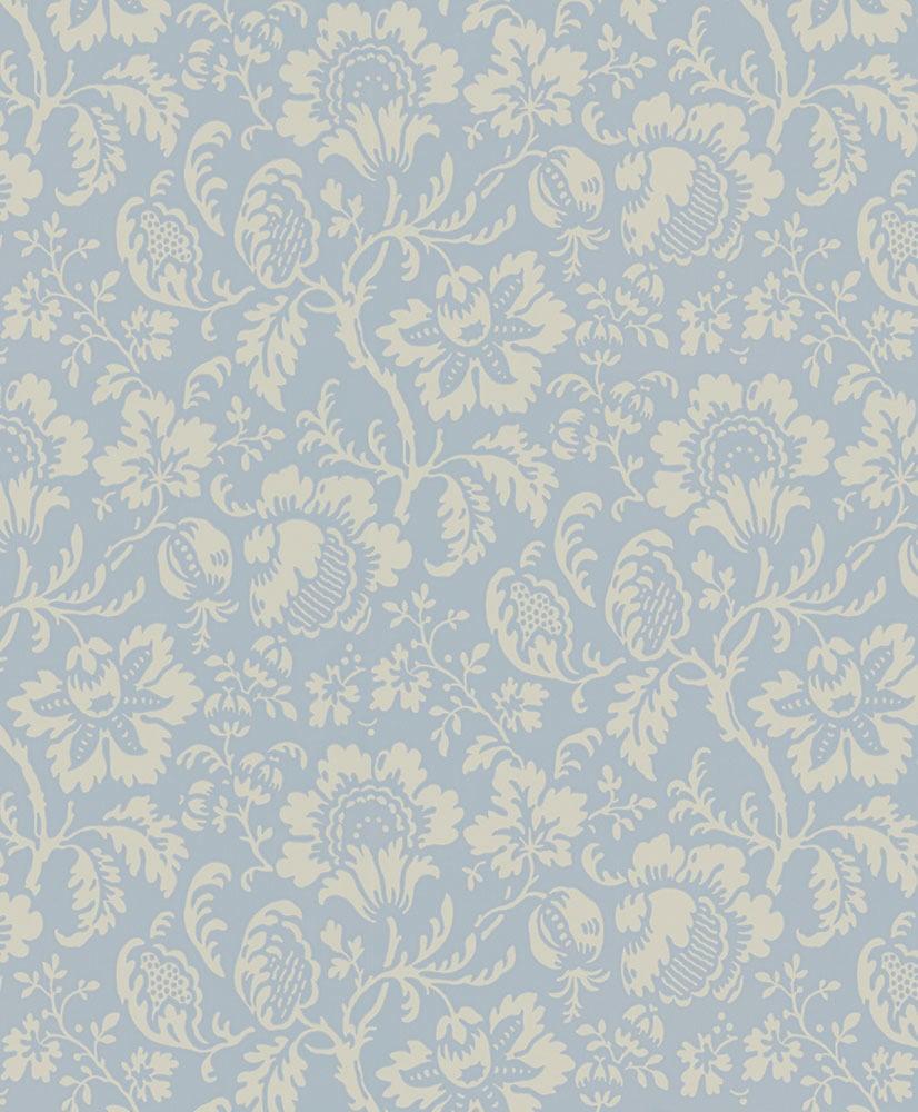 Tienda online telas papel papel pintado flores eduardo for Papel pintado azul