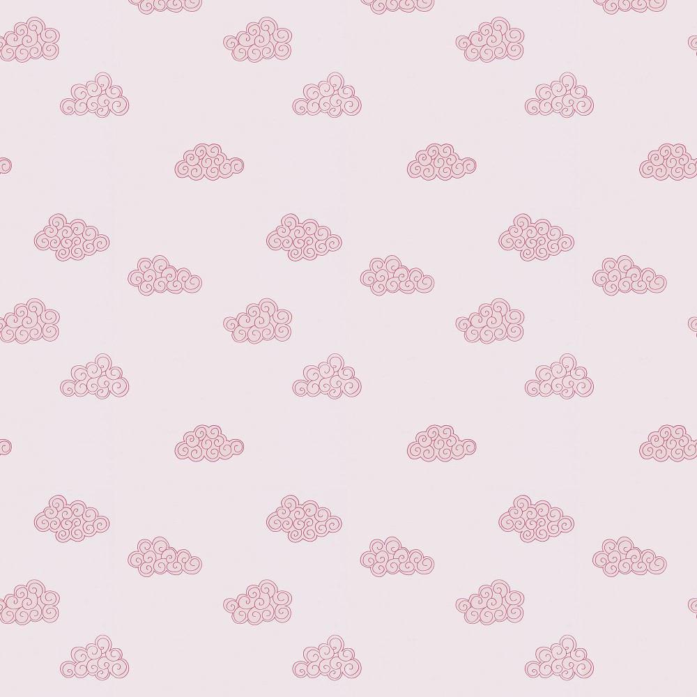 Tienda online telas papel papel pintado nubes rosas - Papel pintado rosa ...