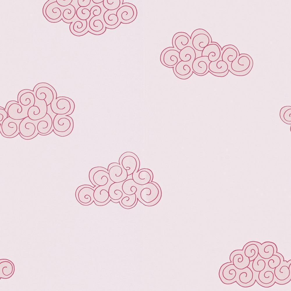 tienda online telas papel papel pintado nubes rosas