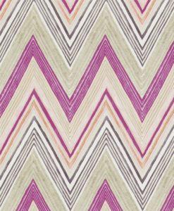 Papel pintado rayas zigzag