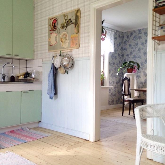 Tienda online telas papel cocina con papel de cuadros - Papel pared cocina ...