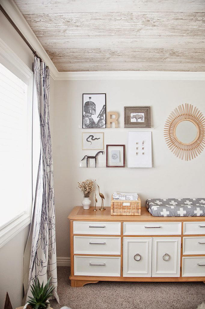 tienda online telas & papel | un techo que parece de madera