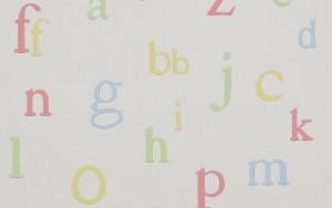 Papel pintado alphabet Beatrix Potter
