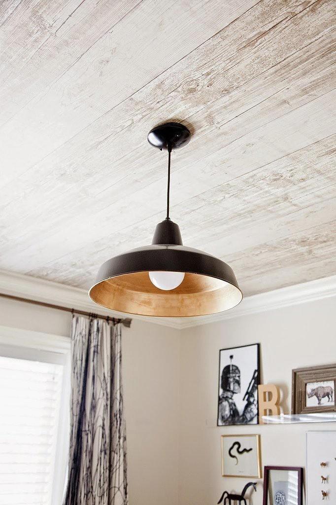 Tienda online telas papel un techo que parece de madera - Papel para techos ...