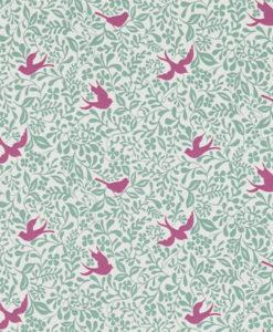 Tienda online telas papel papel pintado pajaros for Papel pintado flamencos