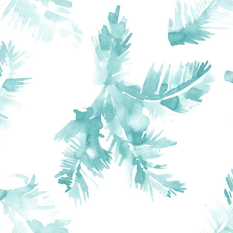 Tienda online telas papel papel pintado palmeras azul for Imagenes de papel pintado