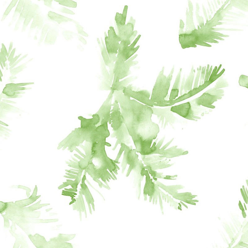 Tienda online telas papel papel pintado palmeras verde for Papel pintado hojas verdes