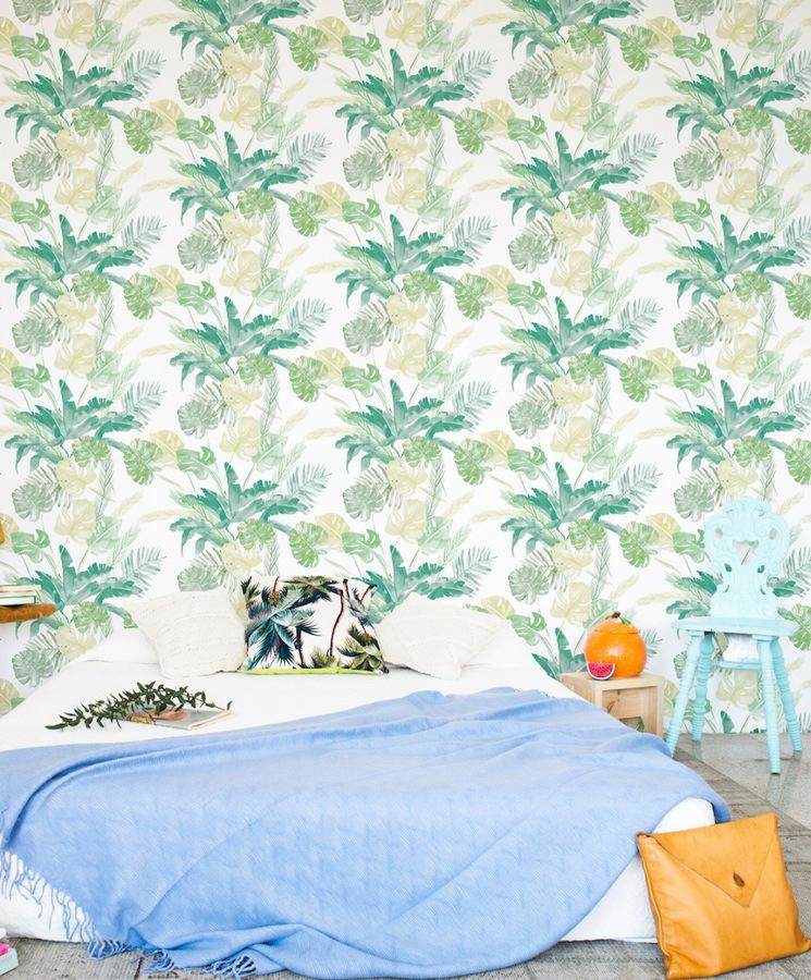 Tienda online telas papel papel pintado jungle verde for Papel pintado verde