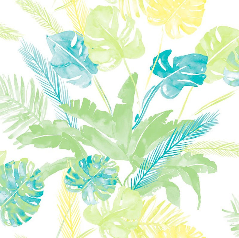 Tienda online telas papel papel pintado jungle fresco for Papel pintado tonos verdes