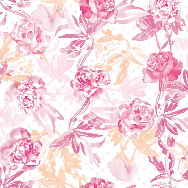 Tienda online telas papel papel pintado roses color rosa - Papel pintado rosa ...