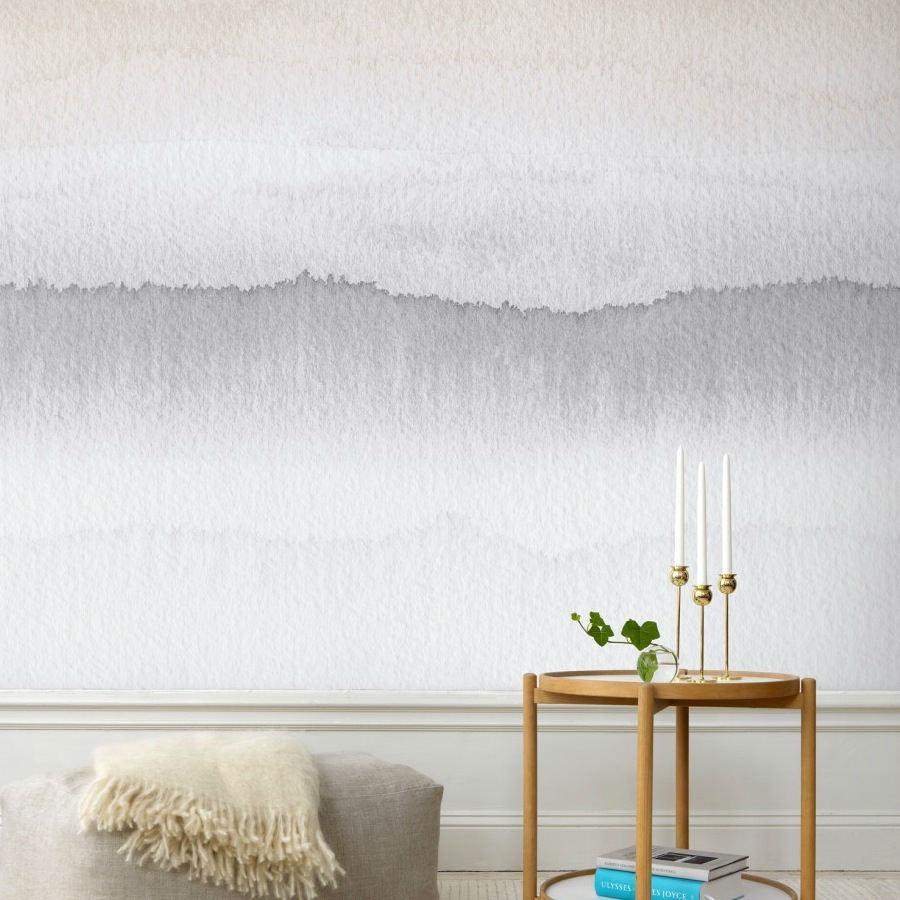 Tienda online telas papel mural papel amanecer gris for Papel pintado mural