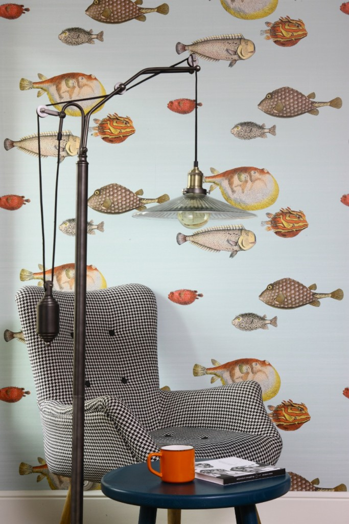 Tienda online telas papel llena las paredes con peces for Catalogo papel paredes