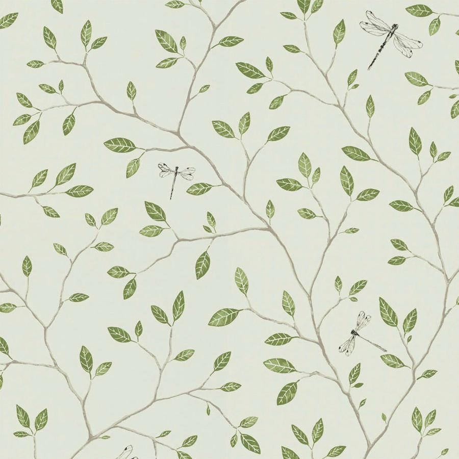 Tienda online telas papel papel pared flores felipe verde - Papel pared online ...