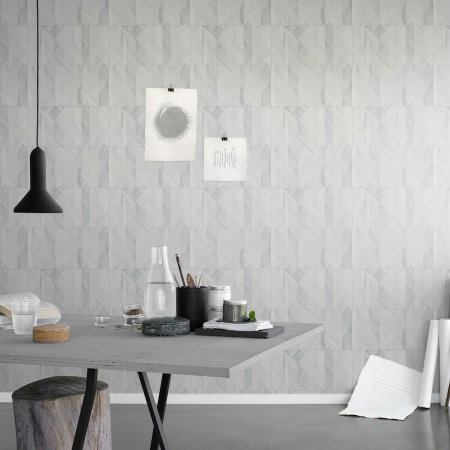 Tienda online telas papel papel pared papeles gris for Papel piedra pared